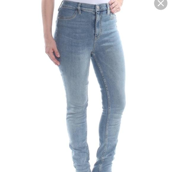 Free People stretch denim jeans (lt denim) NWT